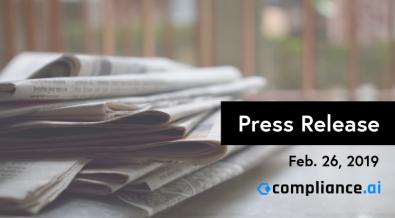 Feb 2019 Compliance.ai Press Release