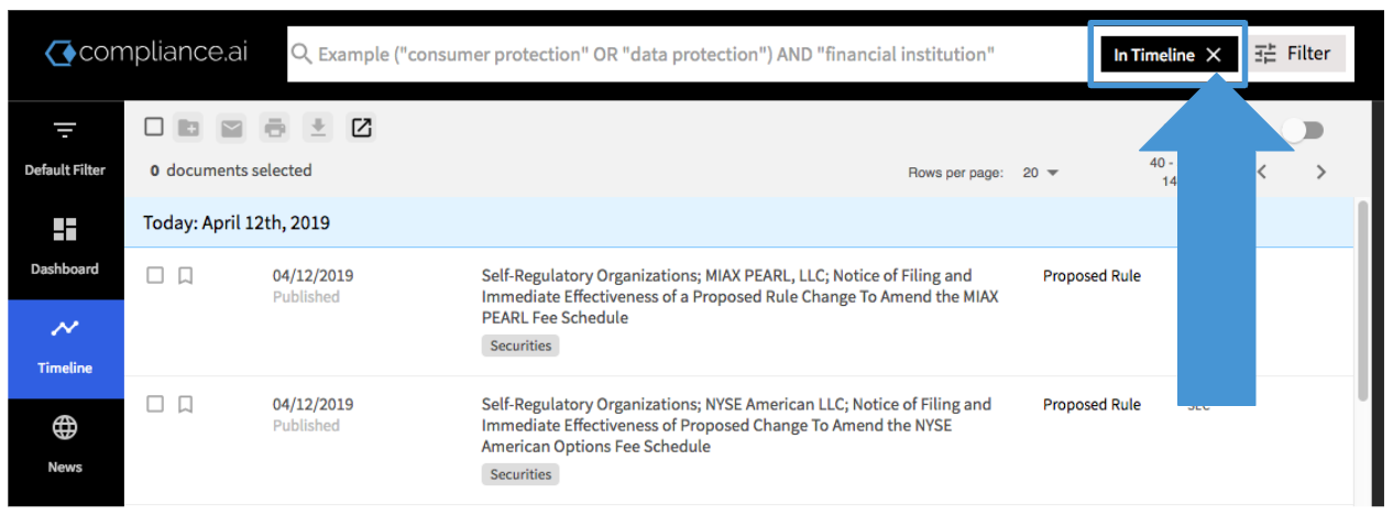 Compliance.ai In Timeline View