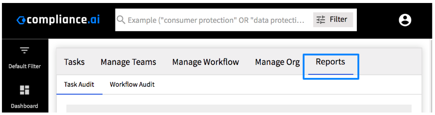 Compliance.ai Workflow Reports