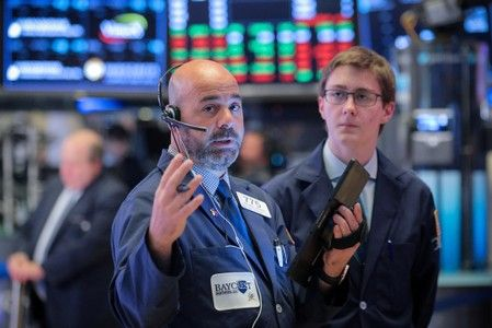 Wall St. opens flat ahead of Fed speeches