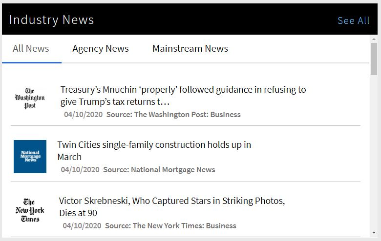 Industry News Widget